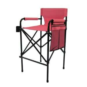 Folding Tall Director Chair Side Table Foot Rest 1310
