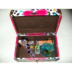 Marijuana Gift Box Glass Pipe Screens Lighter Ashtray