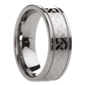 8 mm Mens Tungsten Carbide Rings Wedding Bands Dual Offset