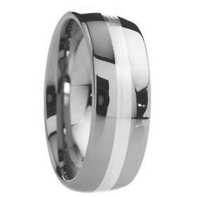 8 mm Mens Tungsten Carbide Rings Wedding Bands Round Shape