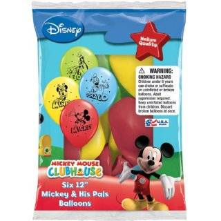 Disney Mickey Mouse Ears Assorted Color Balloons (12 piece