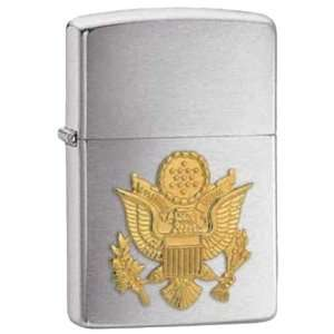 United States Army Crest Heroes Military Chrome Zippo