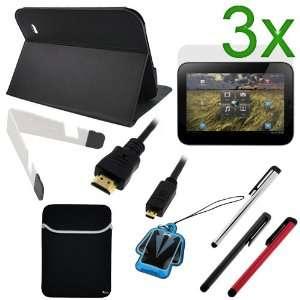 Stand + Neoprene Sleeve Case + 3 X LCD Screen Protector + White Mini