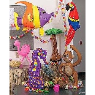 LUAU Decorations / PARROT, Flamingo, Palm Tree, Monkey, Seahorse