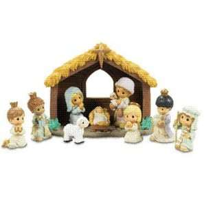 Precious Moments 10 piece Nativity Set Home & Kitchen