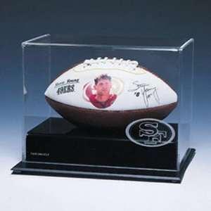 NFL Mini Football Logo Display Case