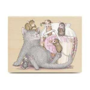 Kitty Treats Wood Mounted Rubber Stamp