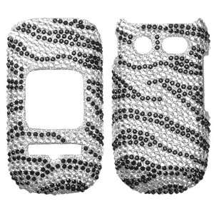 Zebra Skin Diamante Protector Cover for PANTECH P2030 (Breeze III