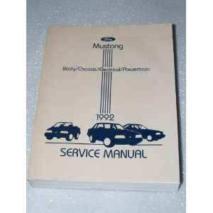 1992 Ford Mustang Factory Service Manual Ford Motor Company Books