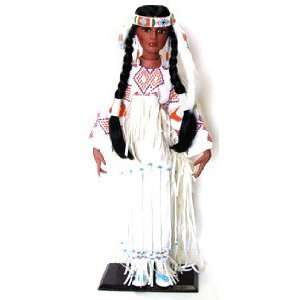 Native American Indian Porcelain Doll by Timeless Dolls Toys & Games