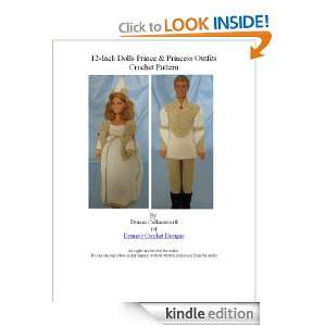 12 inch Fashion Doll Prince and Princess Oufits Crochet Pattern Donna