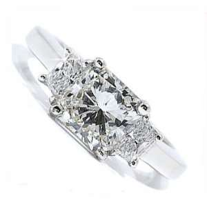 2.30ct Princess Diamond Engagement Ring 14k Gold Jewelry