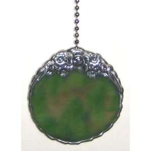Green Stained Glass Pull Chain   2 1/2 X 2 1/2