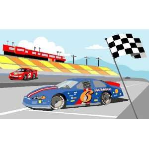Race Car Wall Mural Kit Baby