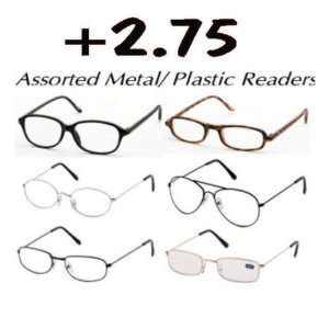 Reading Glasses Metal And Plastic Frames +2.75 Case Pack