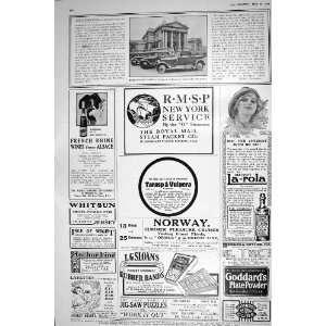 1921 ROLLS ROYCE CAR TATE GALLERY ADVERTISEMENT LAYETTES