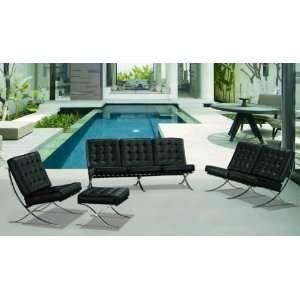 Vig Furniture Et001 4 Piece Living Room Set Black   Sofa, Loveseat