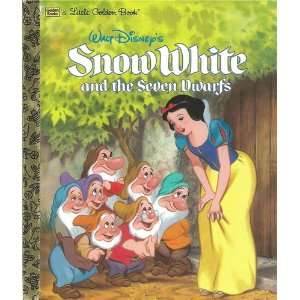 DISNEYS SNOW WHITE AND THE SEVEN DWARFS Little Golden Staff Books