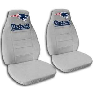 Silver New England seat covers for a 2007 to 2012 Chevrolet Silverado