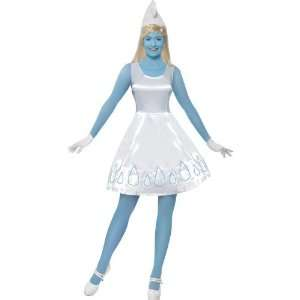 Smurfette Deluxe Fancy Dress Costume, Wig & Face Paint US