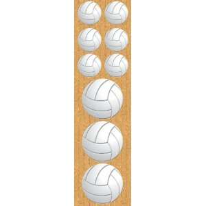 Real Sports Chipboard Sticker, Volleyball Arts, Crafts & Sewing