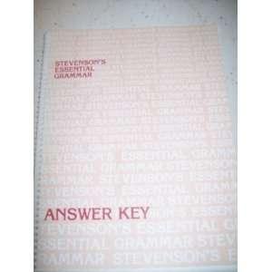 essential grammar answer key (9780941112239) nancy stevenson Books