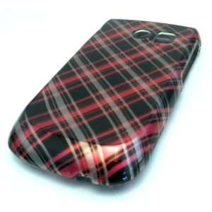 Samsung R375c Straight Talk Black Pink Plaid Design HARD