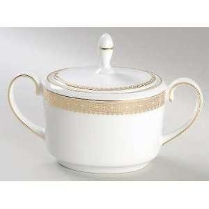 Wedgwood Vera Lace Gold Sugar Bowl & Lid, Fine China