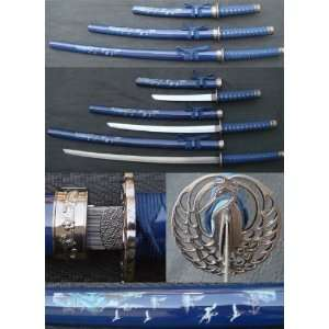 3pc Kissing Crane Sword Set (#SW808BL3)