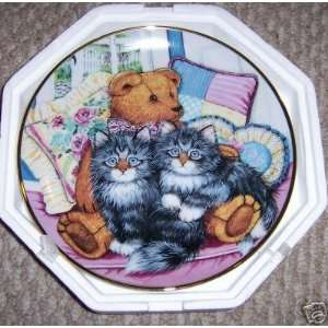 Franklin Mint Cozy Companions Cat plate