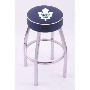 Toronto Maple Leafs Single Rung Chrome Swivel Bar Stool