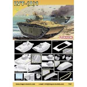 Models 1/72 Landing Vehicles Tracked (Armored), LVT(A) 1 Toys & Games
