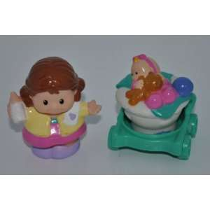 Stroller Replacement Figures   Fisher Price Little People Doll Toy