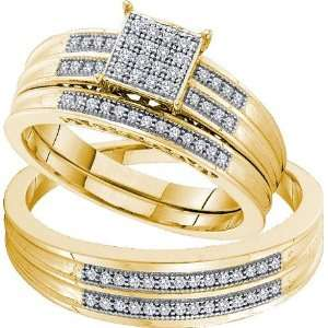 26cttw Diamond MICRO PAVE Trio Set ( Size 7 H I Color, I1 I2 Clarity