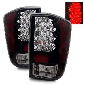 04 09 Nissan Titan LED Tail Lights   Black Automotive
