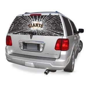 San Francisco Giants Rear Window Shattered Glass Rearz Sticker   Decal