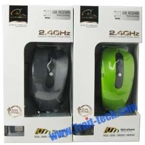 Black Wireless Optical Mouse 2.4 Ghz High Quality