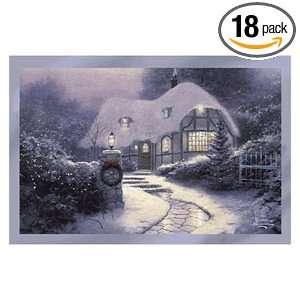 Thomas Kinkade   Christmas Cottage   18 Christian Christmas Boxed