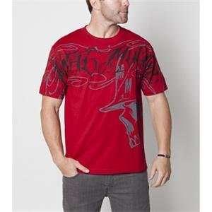 Metal Mulisha Robber T Shirt   Medium/Cardinal Automotive