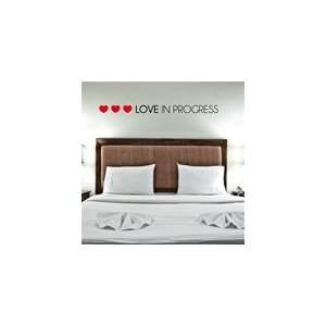 Love in Progress Wall Decal   Black/Red
