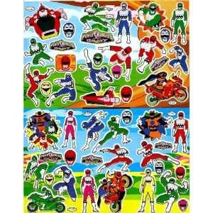 Power Rangers Fox Kids Sticker Sheet B082 ~ Blue Ranger Red Ranger