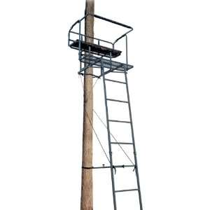 Big Dog Deluxe 15 2   man Ladder Stand with Shelter and Blind