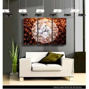 Distant Pulse Abstract Metal Wall Art Home Decor Clock