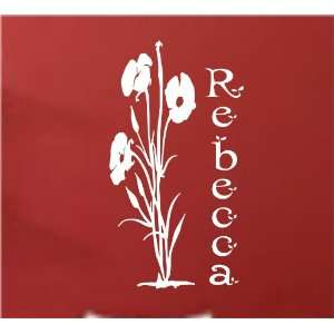 Vinyl Wall Decals Flowers Easy To Apply Female Wall Decal Wallart