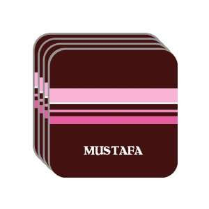 MUSTAFA Set of 4 Mini Mousepad Coasters (pink design) Everything