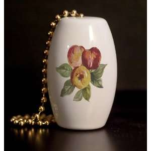 Pretty Peaches Porcelain Fan / Light Pull