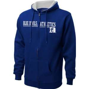 Duke Blue Devils Royal Fissure Full Zip Hooded Sweatshirt