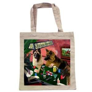 German Shepherd Four Dogs Playing Poker Tote: Home & Kitchen