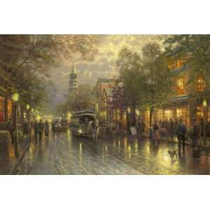 Evening on the Avenue (Charleston, Broad Street)   AP by