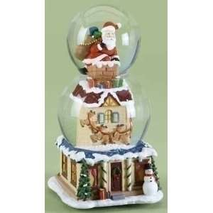 Santa Claus Christmas Double Snow Globe Glitterdome: Home & Kitchen